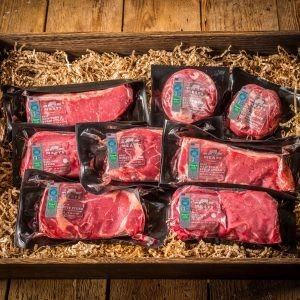 CRYSTAL RIVER MEATS Western Cook Best-of Steak Pack 100% Colorado Grass-Fed and Finished Beef (2 each of New York Strips, Ribeyes, Sirloins and Filet Minon Tenderloins) - THE NEW (Grass Fed Ground Beef)