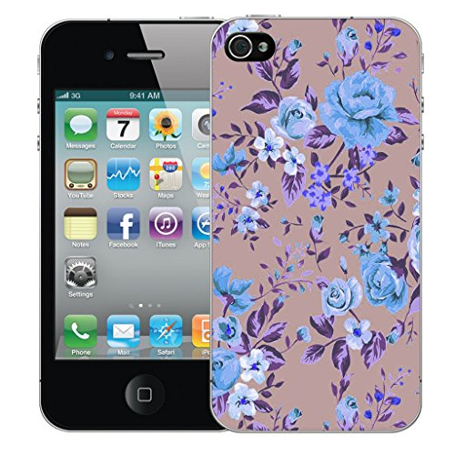 Mobile Case Mate iPhone 4 Silicone Coque couverture case cover Pare-chocs + STYLET - Floweret pattern (SILICON)