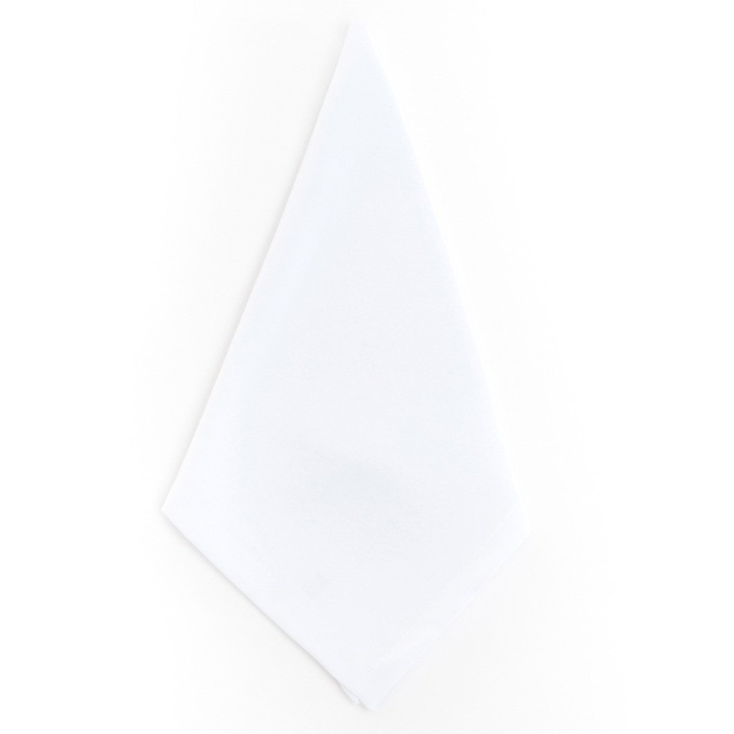 12 Piece White Dinner Napkin, (Set Of 12), Machine Washable, Border Pattern, Classic And Contemporary Style, Square Shape, Suitable For Everyday, Durable, 100-Percent Polyester Material, Off White