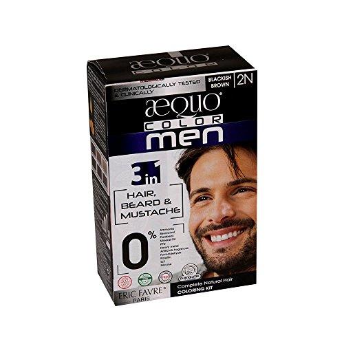 Aequo Color Men 2N Blackish Brown Organic Hair Colour Kit - - Color Blackish Brown