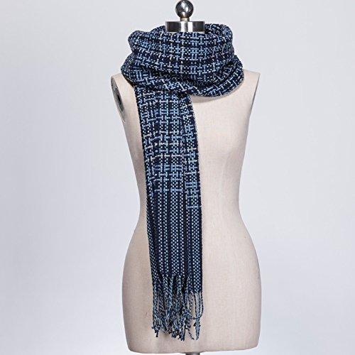 The bluee DEED ScarfWoman Winter Scarf Thick Warm Knit Scarf Long Scarf Shawl AllMatch