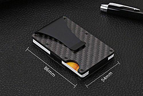 2018 New Version Minimalist Carbon Fibre Slim Wallet, Alpha Wallet Slim Wallet & RFID Blocking Front Pocket Wallet,Minimalist Wallet for Men And Women