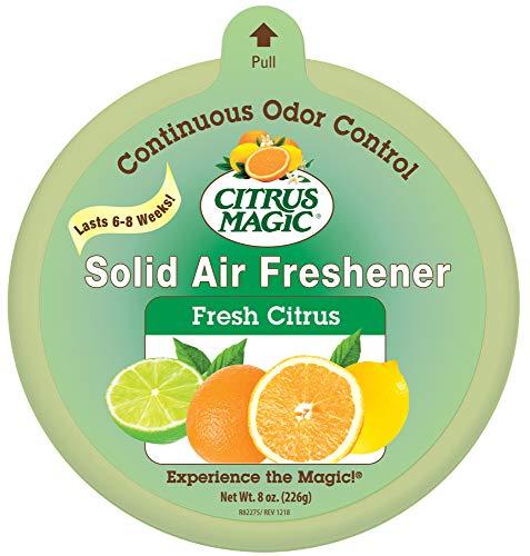 Citrus Magic Solid Air Freshener, Fresh Citrus, -