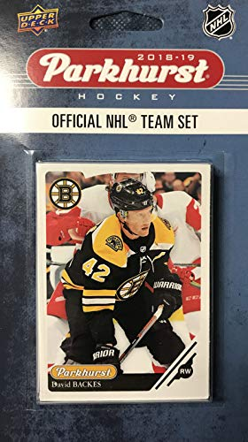 Boston Bruins 2018 2019 Upper Deck PARKHURST Series Factory Sealed 10 Card Team Set including Patrice Bergeron, Zdeno Chara, Tuukka Rask Plus 7 Others