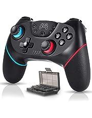 Controller für Nintendo Switch Wireless Bluetooth Nintendo Switch Controller Kostenpflichtig 6-Achsen DualShock Turbo Rutschfest mit Spielkartenbox
