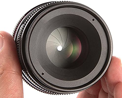 Hersmay 50mm F//1.8 Manual Focus Prime Fixed Lens for Sony E-Mount Digital Mirrorless Cameras A9 A7III A7RII A7SII A7RSIII A6500 A6300 A6000 A5100 A5000 NEX3 NEX3N NEX-F3K NEX5