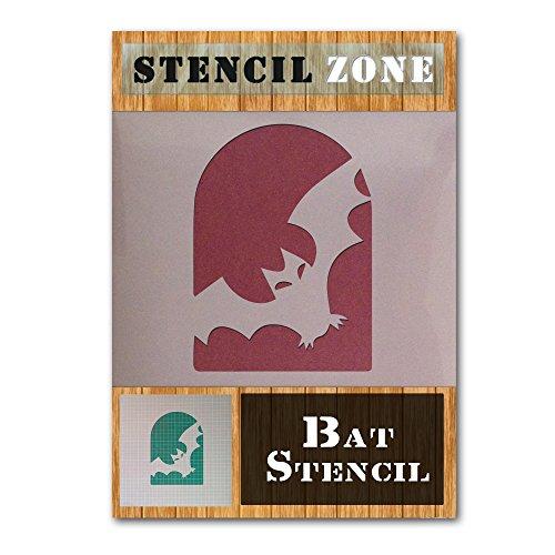 Bat Halloween Mylar Painting Pumpkin Wall Art Stencil Five (A1 Size Stencil - XLarge) ()