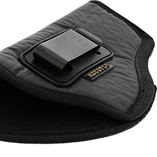 Eco Leather Suede IWB Holster Metal Clip (57G - Midsize / Compact, Right) (Holster Suede Leather Lined)