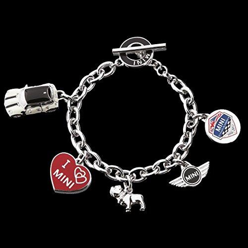 Genuine Mini Cooper Women S Ladies Silver Charm Bracelet