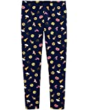 Emoji Clothes for Kids Osh Kosh Girls' Kids Full Length Legging, Navy Emojis, 4-5