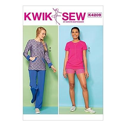 Amazon Kwik Sew Ladies Sewing Pattern 4210 Knit Tops Shorts