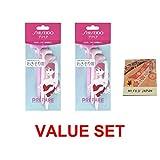 Shiseido Underarm Razor 3pcs x 2 Pack (total 6 pcs) with Premium Oil Blotting Paper Value Set