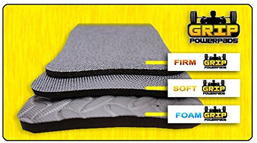 Grip Power Pads Variety Pack of 1Soft 1Firm 1Foam Lifting Grips