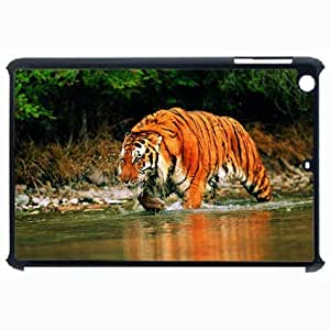 Customized Back Cover Case For iPad Air 5 Hardshell Case, Black Back Cover Design Tiger Personalized Unique Case For iPad Air 5