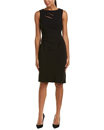 97f4f995569f Tahari ASL Women's Cut Out Sheath Dress Shirring Black 4 at Amazon ...