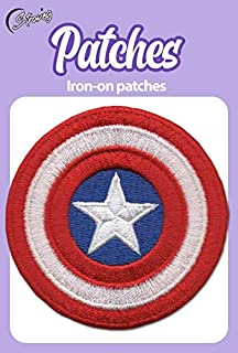 "Captain America Retro Shield 4/"" Super Hero Avengers Iron On Patch Free Ship"
