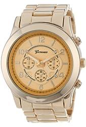 """Geneva Women's 2365-gold-GEN  """"Boyfriend"""" Watch"""