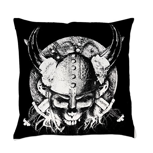 Royal Lion Burlap Suede or Woven Throw Pillow Helmet Sword and Skull - Suede, 20 Inch -