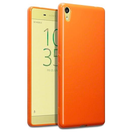 15 opinioni per Terrapin TPU Gel Custodia per Sony Xperia XA Ultra Case, Colore: Arancione