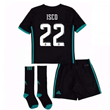 309b8ecc7 UKSoccershop 2017-18 Real Madrid Away Full Kit (Isco 22): Amazon.co.uk:  Sports & Outdoors