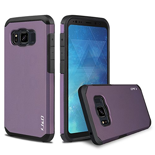 J&D Case Compatible for Galaxy S8 Active Case, Heavy Duty [Dual Layer] Hybrid Shock Proof Protective Rugged Bumper Case for Samsung Galaxy S8 Active Case - [Not for Galaxy S8 Edge/Galaxy S8] - Purple