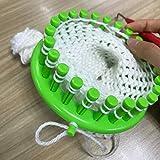LAYOER Round Knitting Loom Set with Hook Needle Kit Yarn Cord Knitter 4 Hat