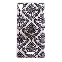 SONY T3 Case, Showing Totem Series Flexible Soft TPU Cover Protective Case For 5.3 inches SONY Xperia T3 / Xperia Style (Black Totem Lace)