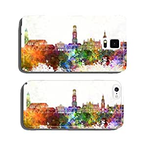 Bruges skyline in watercolor background cell phone cover case iPhone6