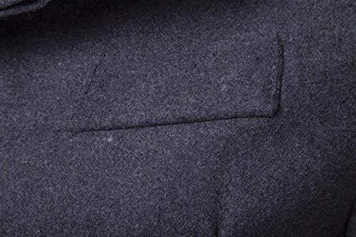 Único Invierno Aptos Sólidos Capa Colores Hombres Mezcla Solapa Grau De Larga Caliente Negocios Vestir Chaqueta Delgada Los Prendas La Abrigo Otoño Lana Manga ETFtwxFqf