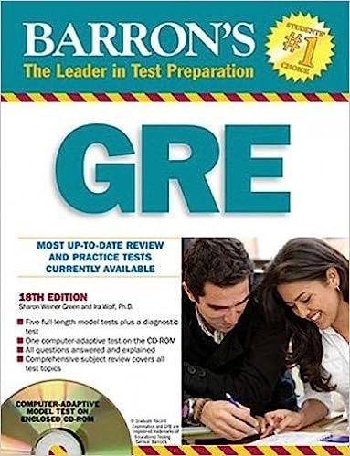 Barron's gre: graduate record examination: sharon weiner green.