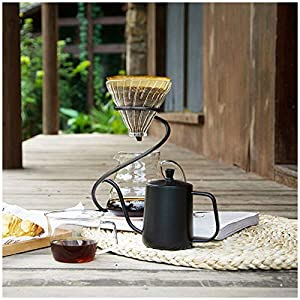 TINTON LIFE Reusable Metal Pour Over Coffee Dripper Stand(Black)Circinate Shaped with Drip Pot and Coffee Filter Dripper (Color: Black, Tamaño: Style B)