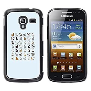 Be Good Phone Accessory // Dura Cáscara cubierta Protectora Caso Carcasa Funda de Protección para Samsung Galaxy Ace 2 I8160 Ace II X S7560M // Cat Species Chart All Breeds List Kitt