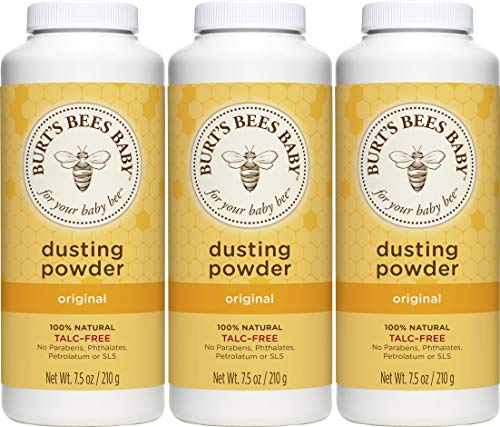 Burt's Bees Baby 100% Natural Dusting Powder, Talc-Free Baby Powder – 7.5 Ounces Bottle – Pack of 3