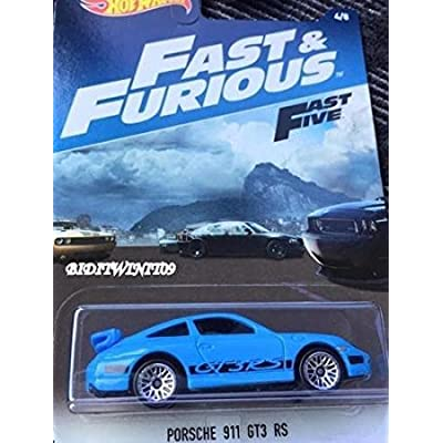 Hot Wheels 2020 Fast & Furious Porsche 911 GT3 RS in Blue!: Toys & Games