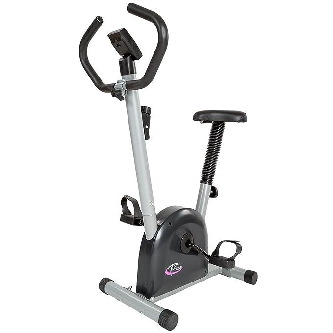 TecTake - Bicicleta estática/elíptica, fitness y cardio, con pantalla LCD: Amazon.es: Deportes y aire libre