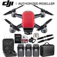 DJI Spark Portable Mini Drone Quadcopter Ultimate Portable Bag Shoulder Travel Case Bundle (Lava Red)