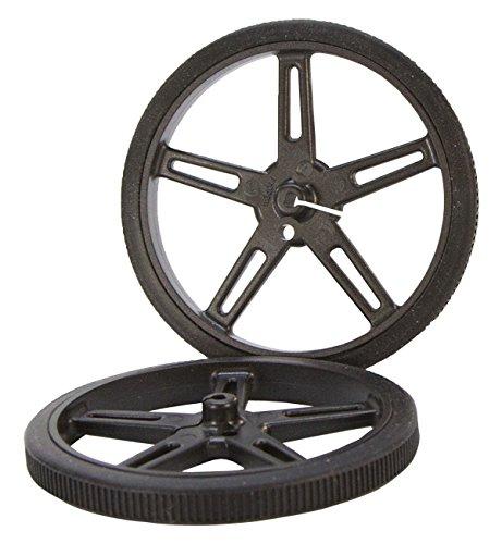 70 x 8mm Black Robot Wheels Pololu