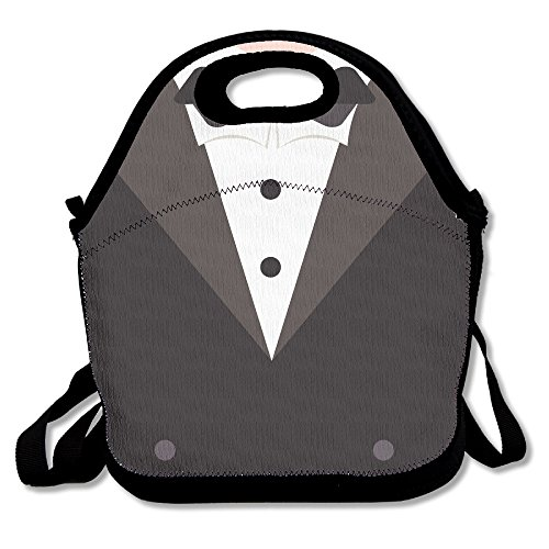 FutongHuaxia Man's Suits . Simple Outdoor Lunch Bag Lunch Box Thermal Insulated Tote Cooler Lunch Pouch Picnic Bag Lunch Tote, For School Work Office,gift For Women (Pattern Zoot Suit)