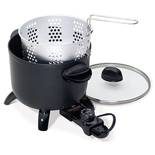 Multi Cooking Home Kitchen Deep Fryer Cooker Roaster Steamer Kettle Electric (Pork Roaster Ovens)