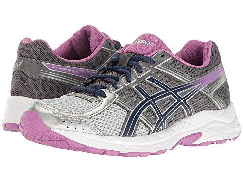 ASICS Women's Gel-Contend 4 Running Shoe, Silver/Campanula/Carbon, 10 D US