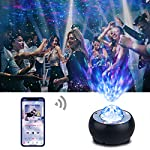 Star Projector Riarmo -2021 Upgraded Night Light Projector with Music Speaker & Remote Control for Bedroom/Party/Home Decor, Starry Projector with Voice Control and Timer for Adults