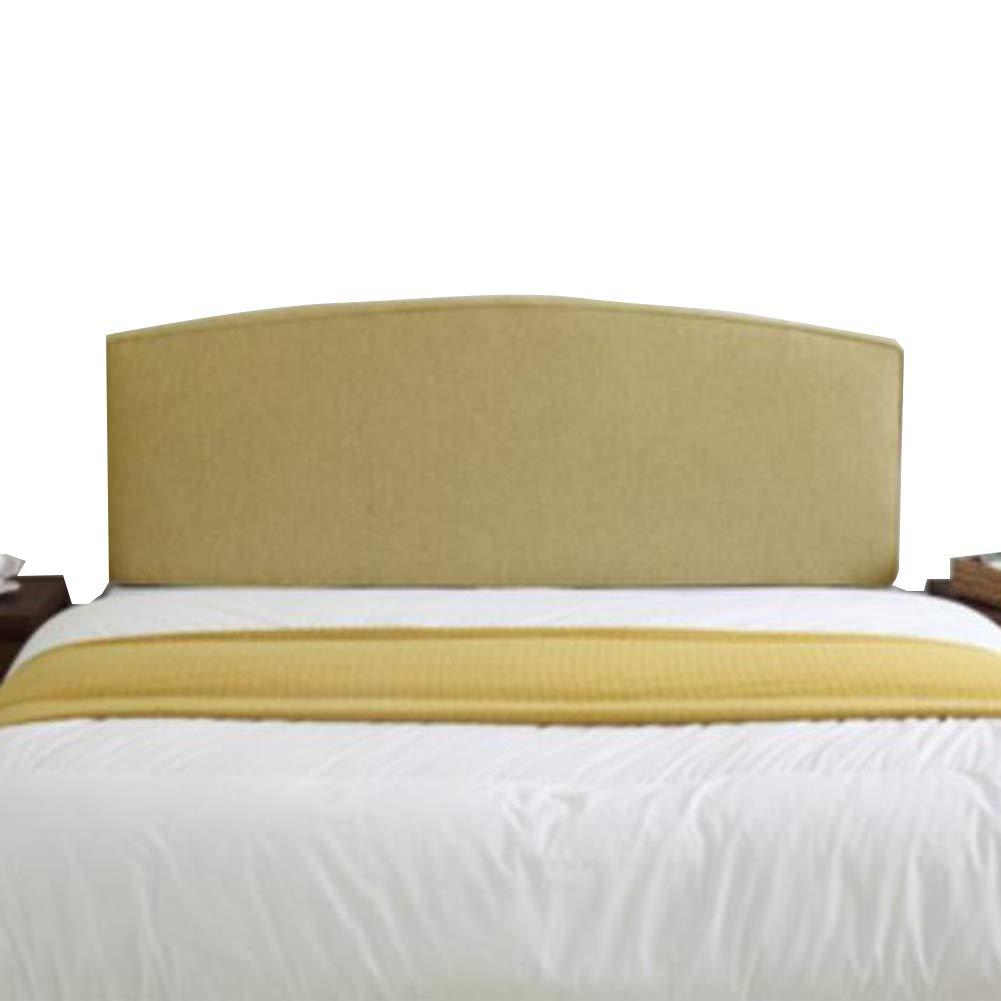 LIANGLIANG クションベッドの背もたれ寝室用ベッドヘッドレスト脊椎保護腰椎サポート、6色、13サイズ (色 : イエロー いえろ゜, サイズ さいず : 200x65x7cm)   B07MW7K7HX