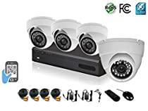HDView 4 Channel 2.4MP 1080P HD Megapixel Security Camera Surge-Protection DVR Kit, With 1TB HDD, 4 x 2.4MP 1080P Infrared Cameras Package System