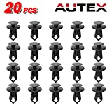 PartsSquare 20pcs Car Retainer Clips Fender Liner Fastener Rivet Push Type Clips Nylon Bumper Retainer Fastener Clamps Replacement for Ford/Chrysler/Dodge/Lincoln/Jeep/Plymouth