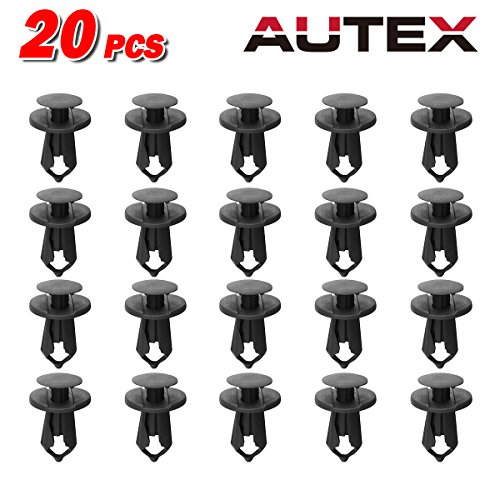 (PartsSquare 20pcs Car Retainer Clips Fender Liner Fastener Rivet Push Type Clips Nylon Bumper Retainer Fastener Clamps Replacement for Ford/Chrysler/Dodge/Lincoln/Jeep/Plymouth)