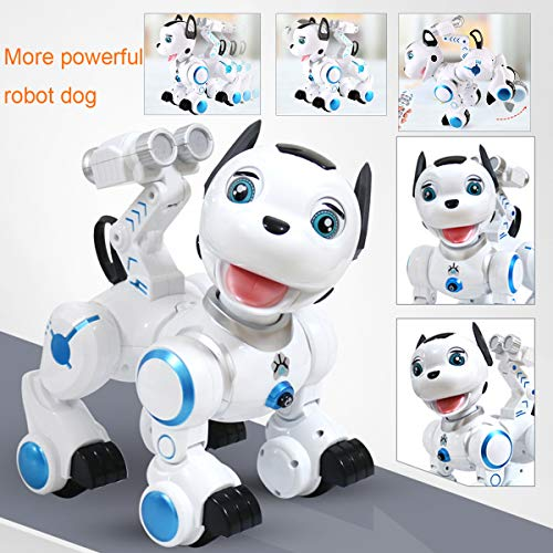 fisca Remote Control Robotic Dog RC Interactive Intelligent Walking Dancing Programmable Robot Puppy Toys Electronic Pets with Light and Sound for Kids Boys Girls Age 6, 7, 8, 9, 10 and Up Year Old by fisca (Image #5)