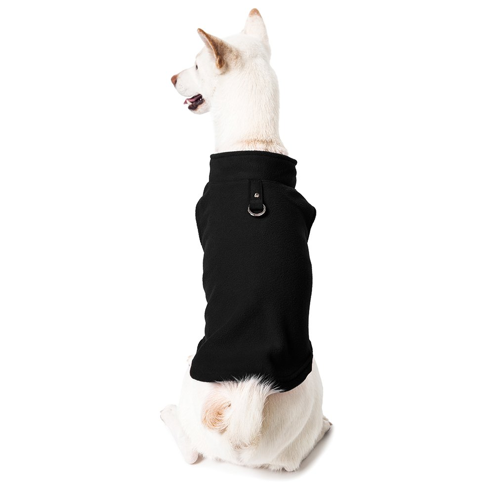 Gooby Every Day Fleece Cold Weather Dog Vest for Small Dogs, Black, X-Large