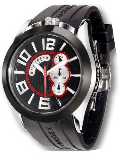 12188e37af9c Haurex Italy Blaze Black Dial Watch  3D333UNS - Reloj de caballero de cuarzo