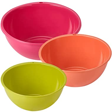 Multi Mixing Bowl Large, Pink / Medium, Orange / Small, Green 3 pcs Set Made in Korea
