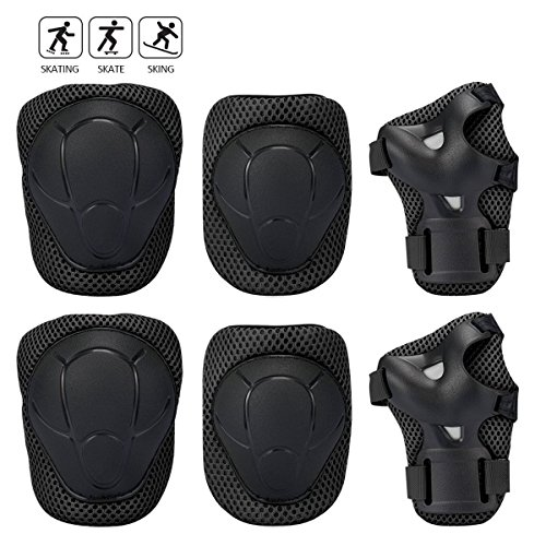Banne Kids Protective Gear, Knee Elbow Wrist Pads for Skateboarding Inline Roller Skating Cycling and other Extreme Sports Activities-04